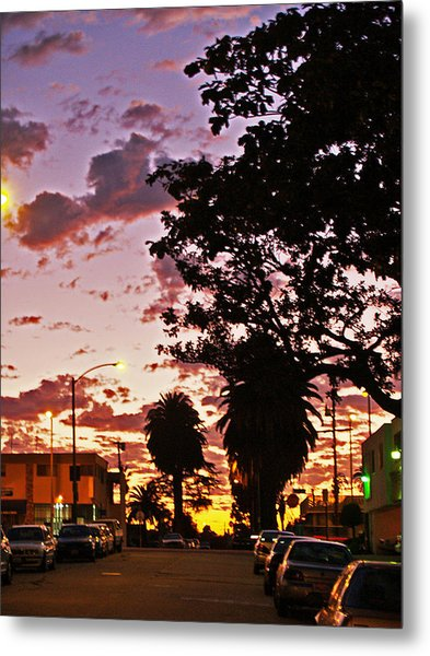 Neighborhood Silhouette  Metal Print by D Wash