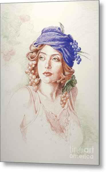 Neoclassical Drawing Metal Print