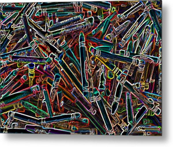 Neon Crayons Metal Print by Bernadette Kazmarski