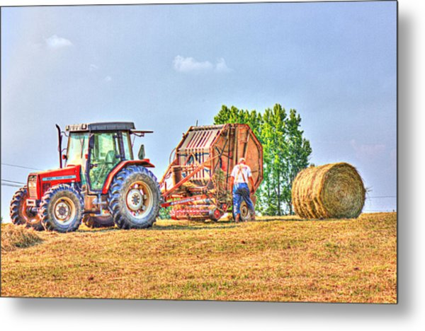 New Bale Metal Print by Barry Jones