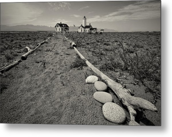 New Dungeness Lighthouse Metal Print