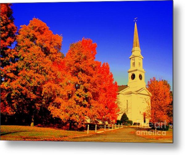 New England Church  Metal Print
