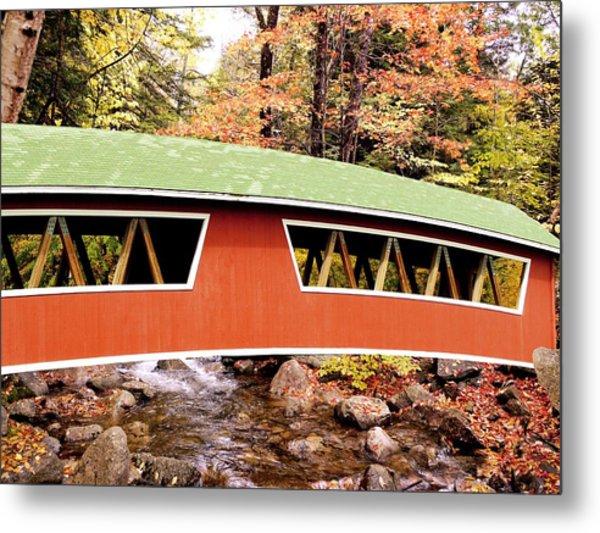 New England Covered Bridge Metal Print by Tony Craddock