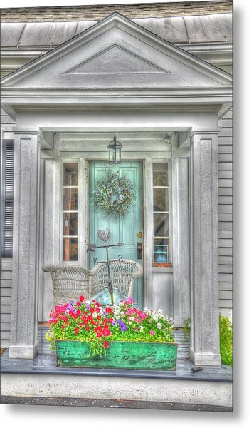 New England Doorway Metal Print by Lisa Goddard