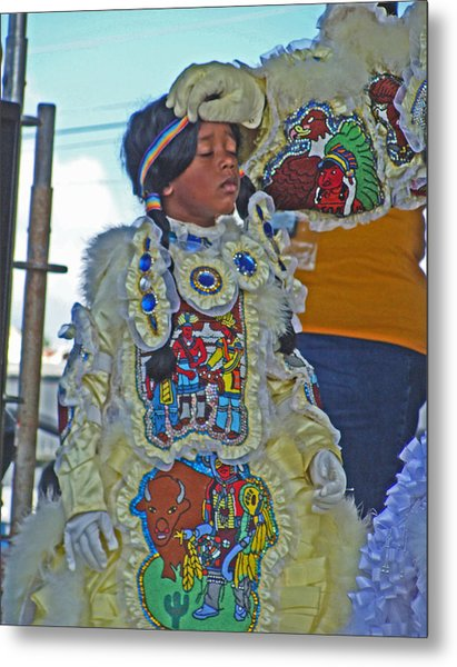 New Generation Of Mardi Gras Indians In New Orleans Metal Print