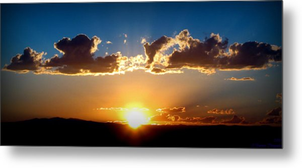 New Mexico Late Summer Skies Metal Print by Aaron Burrows