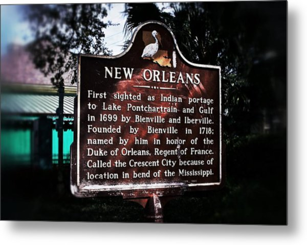 New Orleans History Marker Metal Print