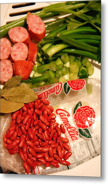 New Orleans' Red Beans And Rice Metal Print
