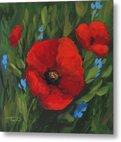 New Year Poppies Metal Print