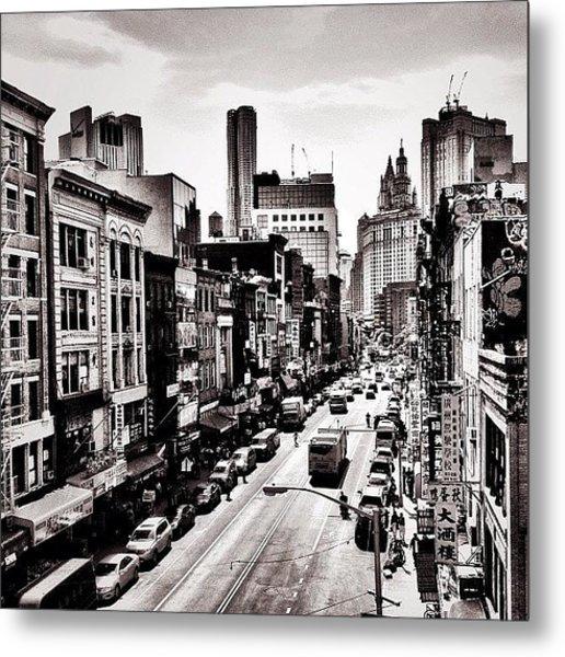 New York City - Above Chinatown Metal Print