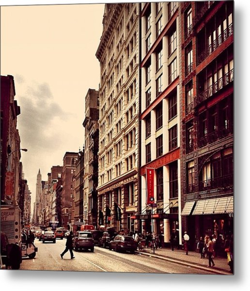 New York City - Cloudy Day On Broadway Metal Print