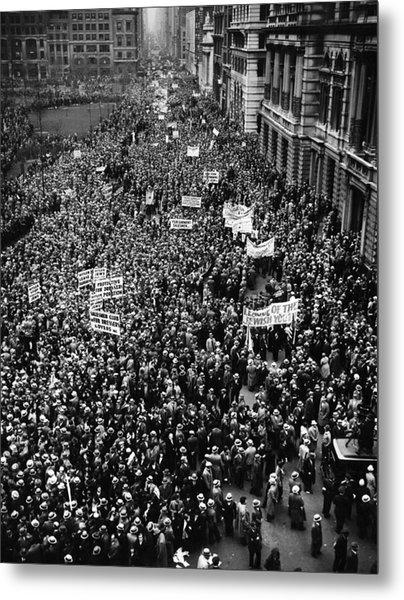 New York City, Hitler Protest Parade Metal Print