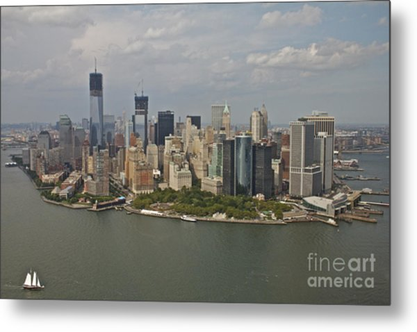 New York City Sky Line Metal Print by Linda Asparro