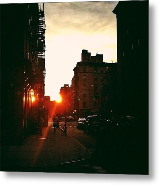 New York City Sunset Metal Print