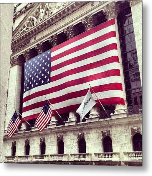 New York Stock Exchange/wall Street Metal Print