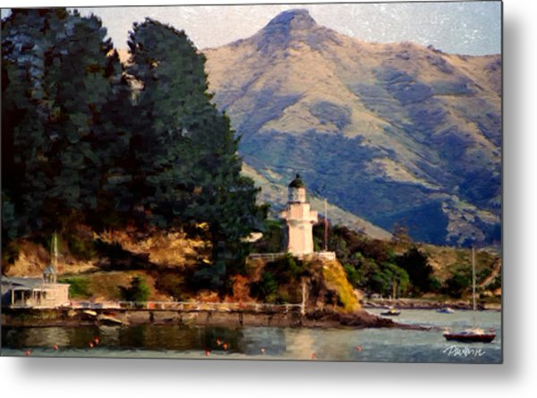 New Zealand Series - Akaroa Lighthouse Metal Print by Jim Pavelle