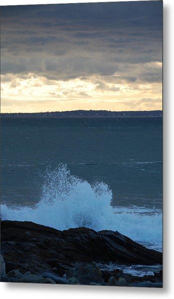 Newport Evening Waves Metal Print by Dickon Thompson