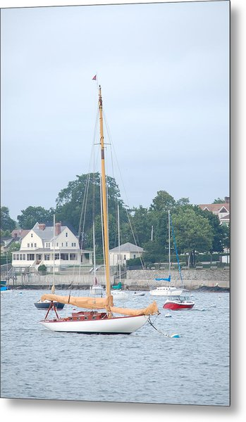 Newport Ri Wooden Sailboat Metal Print