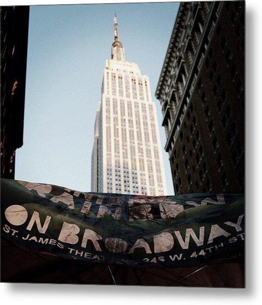 #newyorker #newyork #ny #empirestate Metal Print