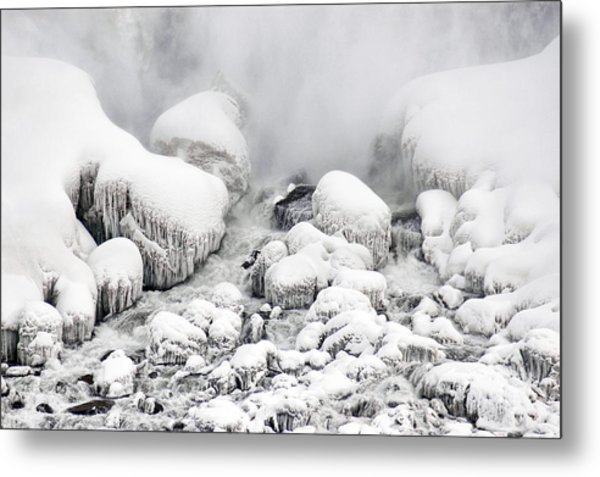 Niagara Falls Frozen Abstract 1 Metal Print