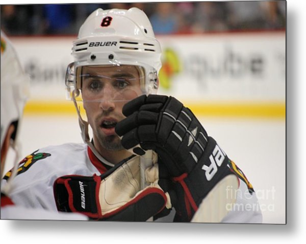 Nick Leddy - Chicago Blackhawks Metal Print