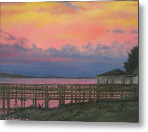 Night Sky Over Lake Marion Metal Print