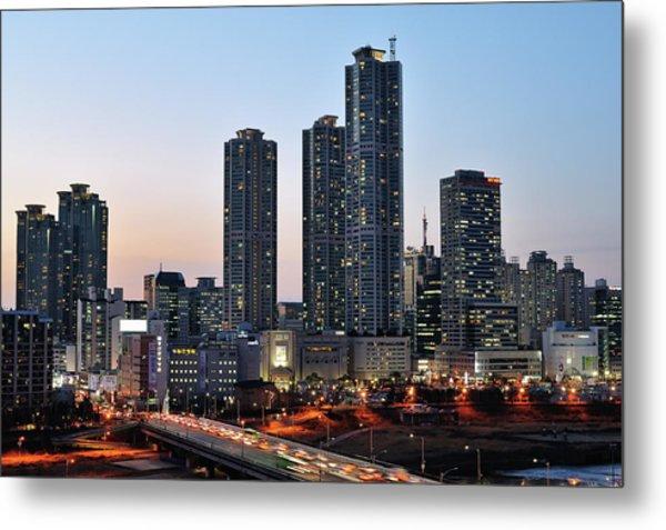 Night View Of Mok-dong Metal Print by Tokism