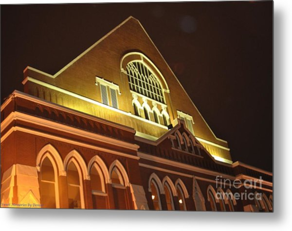 Night View Of The Ryman Metal Print