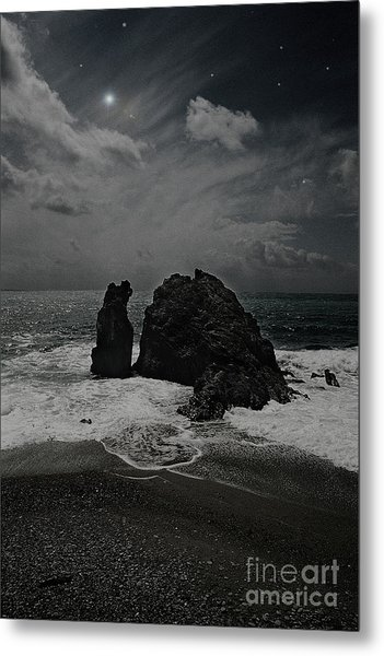 Night Waves Metal Print by Virginia Furness