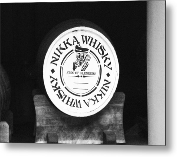 Nikka Whiskey Barrell Metal Print by Naxart Studio