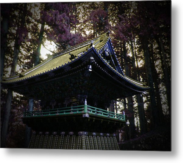 Nikko Architectural Detail Metal Print by Naxart Studio