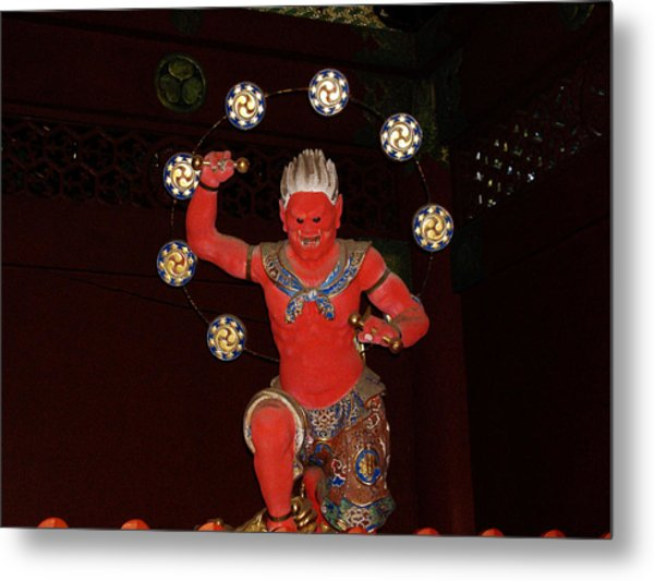 Nikko Red Figure Metal Print