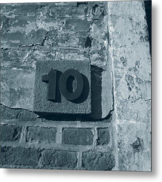 No. 10 Barracks At Terezin - Duotone Metal Print