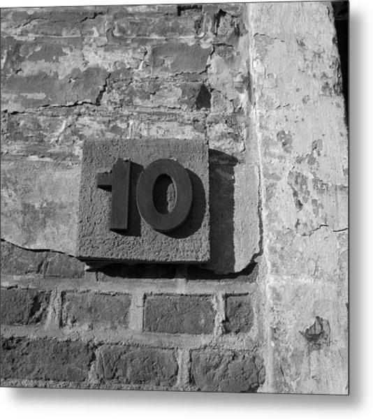 No. 10 Barracks At Terezin Metal Print
