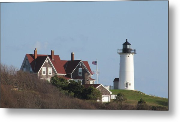 Nobska Lighthouse Cape Cod Metal Print