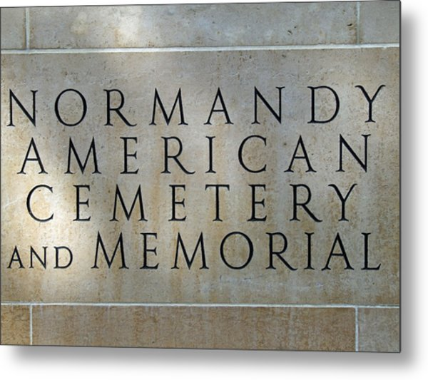 Normany Ww II American Cemetery And Memorial  Metal Print