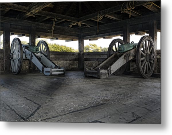 North Redoubt Cannons Metal Print by Peter Chilelli