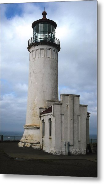 Northhead Lighthouse At Cape Disappointment  Metal Print
