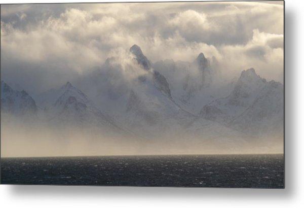 Norwegian Arctic Hills Metal Print by Christopher Mullard