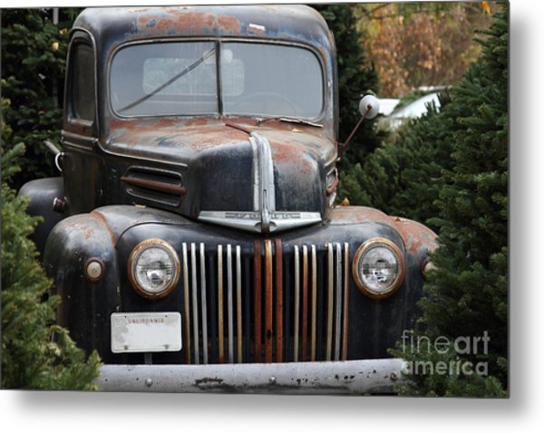 Nostalgic Rusty Old Ford Truck . 7d10280 Metal Print by Wingsdomain Art and Photography