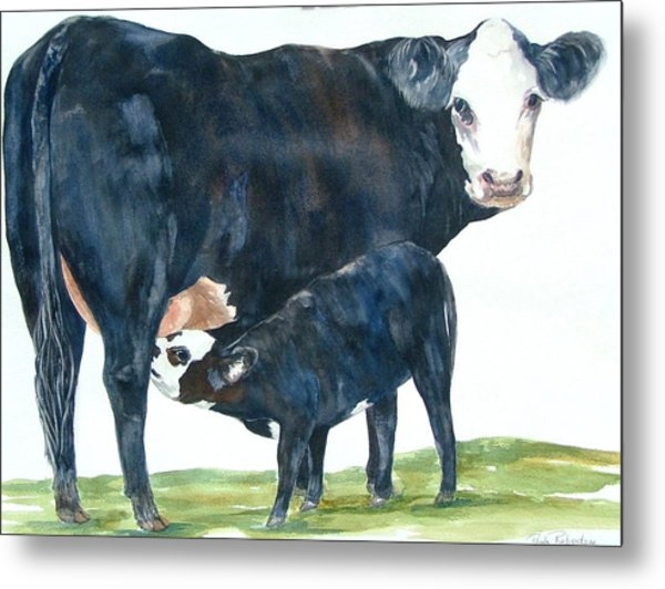 Metal Print featuring the painting Nothing But Mother's Milk For My Baby by Paula Robertson