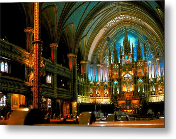 Notre Dame In Montreal Metal Print by Carl Purcell