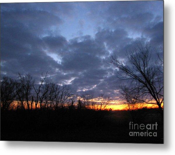 November Sunrise Metal Print by Cedric Hampton