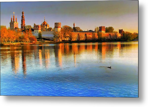 Novodevichy Convent Metal Print