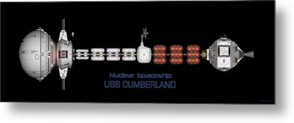 Nuclear Spaceship Uss Cumberland Metal Print