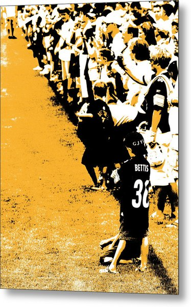 Number 1 Bettis Fan - Black And Gold Metal Print