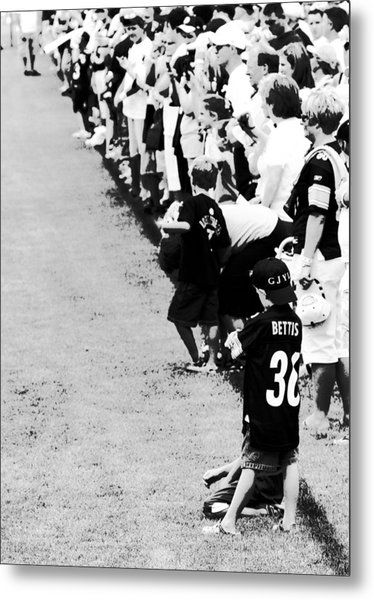 Number 1 Bettis Fan - Black And White Metal Print