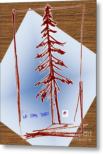 Nw Evergreen Tree Metal Print