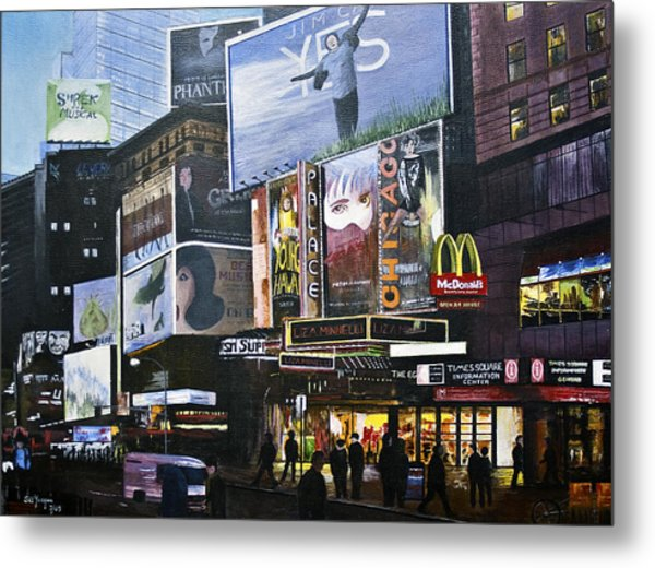 Ny Ny At Dusk Metal Print