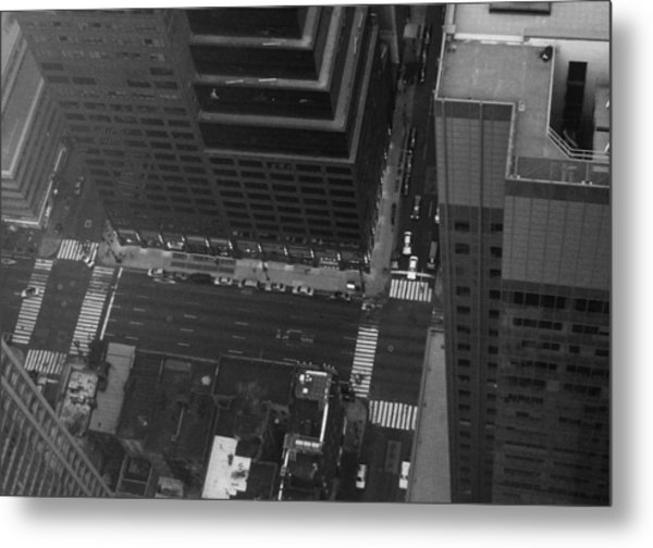 Nyc From The Top Metal Print